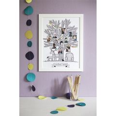 Family tree print with pockets for photos