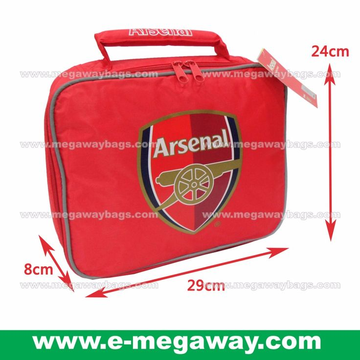 #UK #British #Arsenal #Football #Soccer #Matches #Sports #Trainning #Coach #Team #Club #Picnic #Lunch #Bags #Sandwiches #Red #Cooler #Cases #School #Kids #Boys #Megaway #MegawayBags #CC-0926A-71561-RED #保溫午餐袋 #飲料袋, Kitchen & Appliances on Carousell