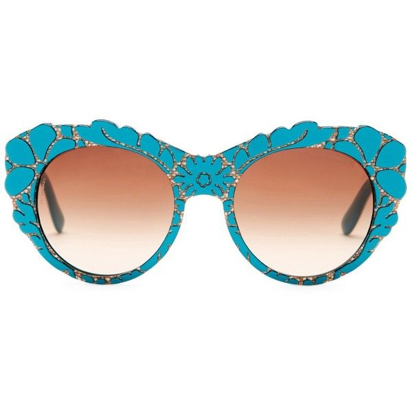 Dolce & Gabbana Women's DNA Oversized Acetate Frame Sunglasses (€71) ❤ liked on Polyvore featuring accessories, eyewear, sunglasses, dolce gabbana glasses, acetate glasses, over sized sunglasses, oversized eyewear and oversized sunglasses