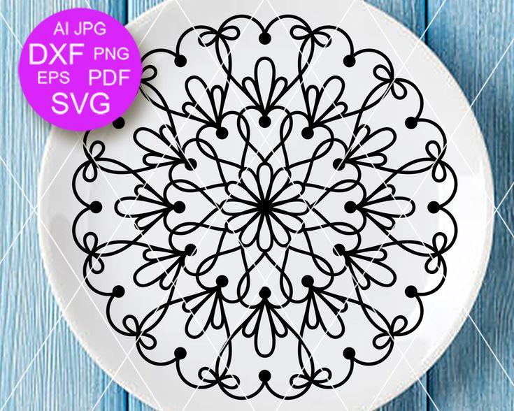 Download Mandala svg Love sign Hearts clip art Mandala wall art decor Girlfriend gift idea Cricut ...