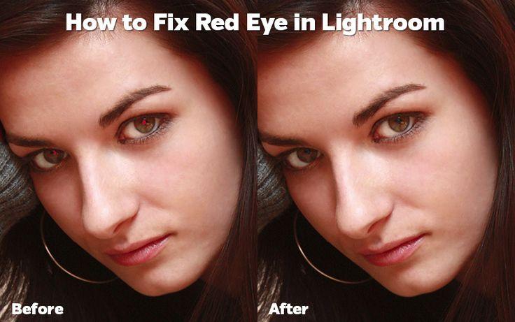 Lightroom red eye