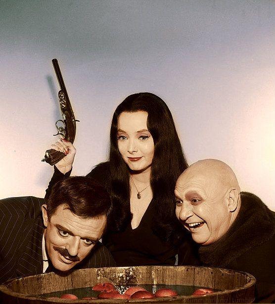 John Astin, Carolyn Jones, Jackie Coogan
