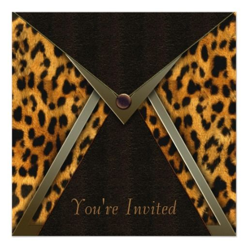 Leopard Party Invitation Template Leopard Print Birthday Theme