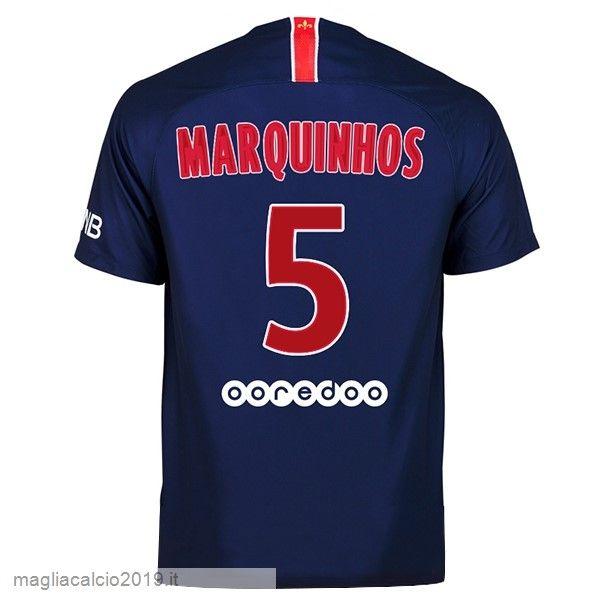 Completi Calcio In Offerta Nike NO.5 Marquinhos Home Maglia Paris ...