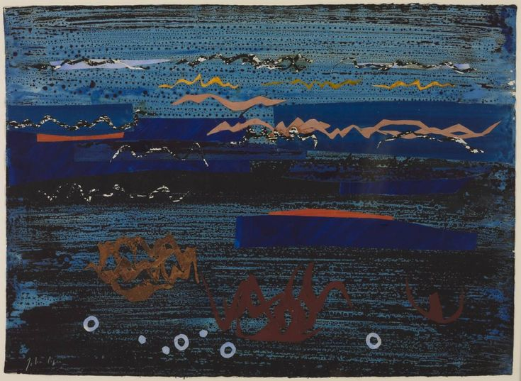John Piper, 'Coast of Brittany II' 1961