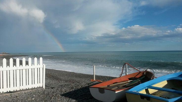 Rainbow by The Sea in Vallecrosia, Liguria.