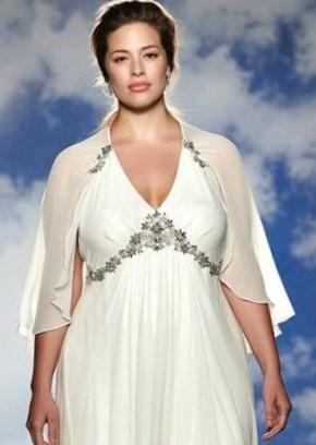 Вечерние свадебные платья для полных - http://1svadebnoeplate.ru/vechernie-svadebnye-platja-dlja-polnyh-2784/ #свадьба #платье #свадебноеплатье #торжество #невеста