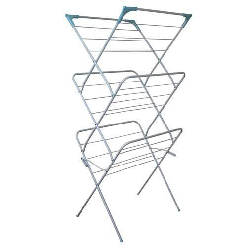 3 Tier Washing Clothes Horse Airer Folding  Indoor Concertina Laundry White Home