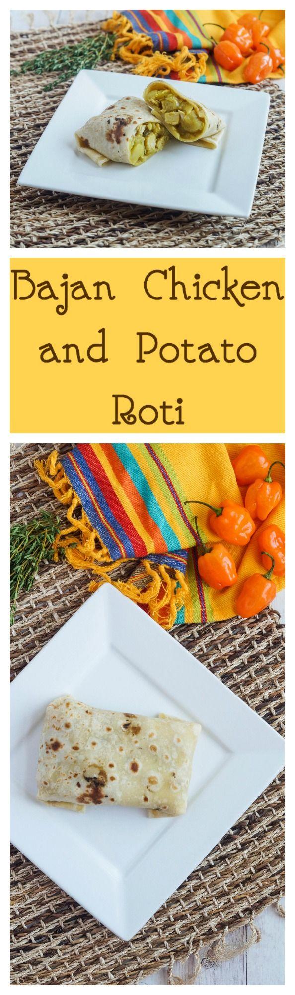 Bajan Chicken and Potato Roti  #bajan #barbados #chicken #poultry #potato #roti #wrap #carnival #curry