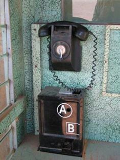 """The inside of these phone boxes was the first """"painted finish"""" I ever saw. And I remember the hollow sound when you talked on the phone."""