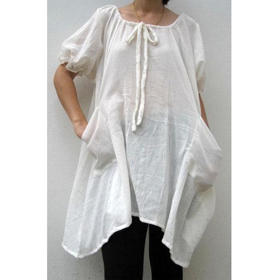 Boho Hippie Blouse Dress - Siam 2 U - Etsy