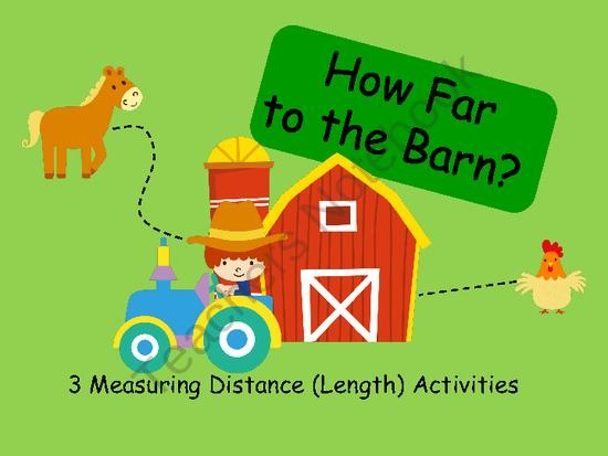 How Far to the Barn? - Measuring Length Activities from Book Fairies and Garden Gnomes on TeachersNotebook.com (9 pages) - 3 different measuring length activities
