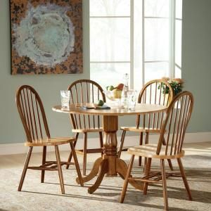 International Concepts Cinnamon and Espresso Wood Spindle Back Windsor Dining Chair C58-212 at The Home Depot - Mobile