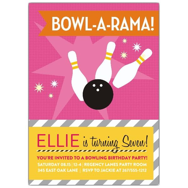 8 best Bowling Party images on Pinterest Birthday party - bowling flyer template free