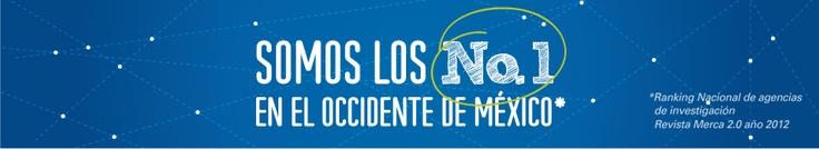 los número 1 en el #occidente de #México #investigación #mercado #marketing #agencia #guadalajara #comunicación #socialmedia