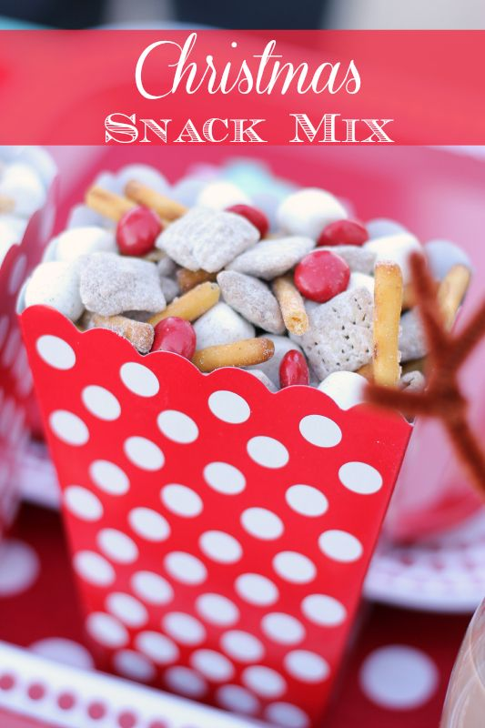 This festive Christmas snack mix is sure to be a crowd favorite at your next holiday party!