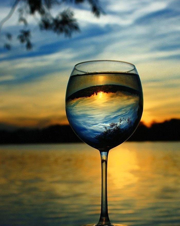 A glass of wine with my love by the lake while watching a Midsummer sunset!!
