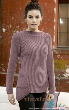 """Нашла такие пуловеры """"на просторах..."""", очень интересные, но описание только для вязания спицами!  Зато есть схема выкройки!  Описание спицами здесь:  http://2nitki.ru/  И ышо один!"""