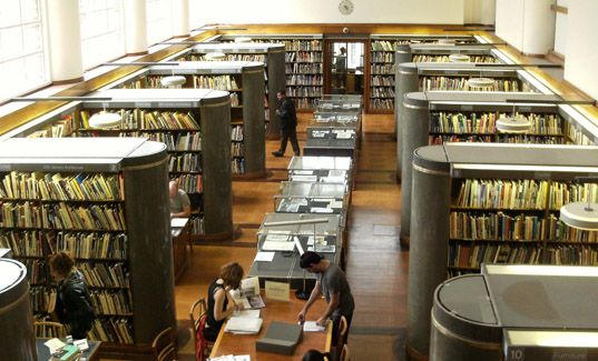 Reading room of the British Architectural Library