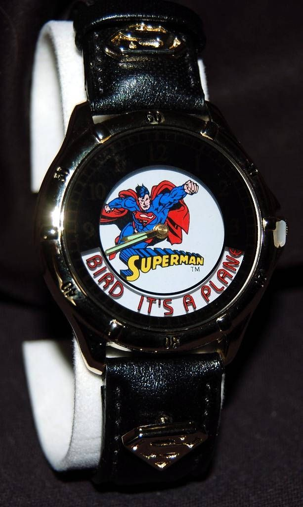 Superman Watch Original Box by Waltham DC Comics Vintage Retired by MrTicToc on Etsy