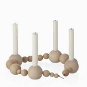 Candleholder string wood nature