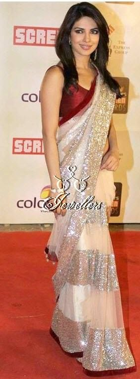 Beautiful Priyanka Chopra replica Saree   Material Used: Net, Velvet and Satin  Colour: Beige and Maroon   Price: $68 (AUD)  https://www.facebook.com/media/set/?set=a.690548291003703.1073741852.423983984326803&type=3#!/photo.php?fbid=690548337670365&set=a.690548291003703.1073741852.423983984326803&type=3&theater