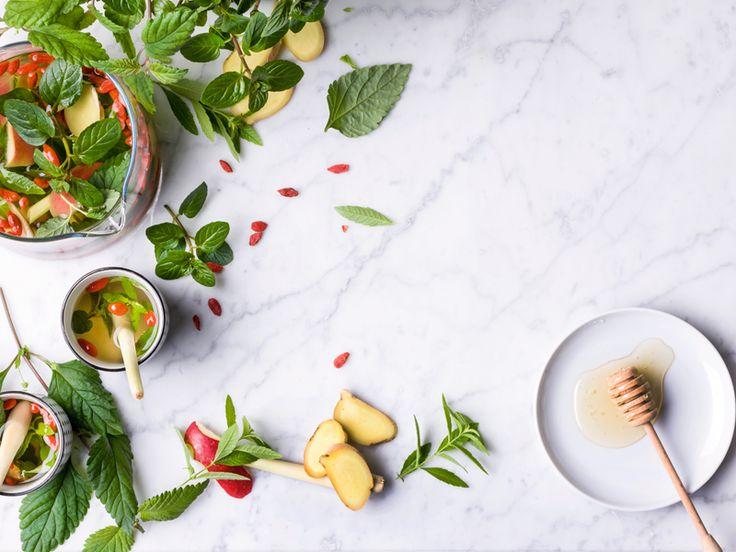 Thee met pepermunt, citroen- en honingverbena