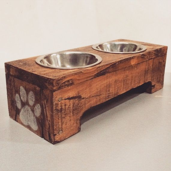 Small Reclaimed Wood Pet Feeder EcoDecoMontreal - Montreal,QC