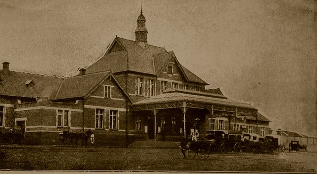 The Railway Station - From a lavishly illustrated book published by H. Virtue and Co in 1900 which is a summary of the progress of the Boer War while it was still being fought.