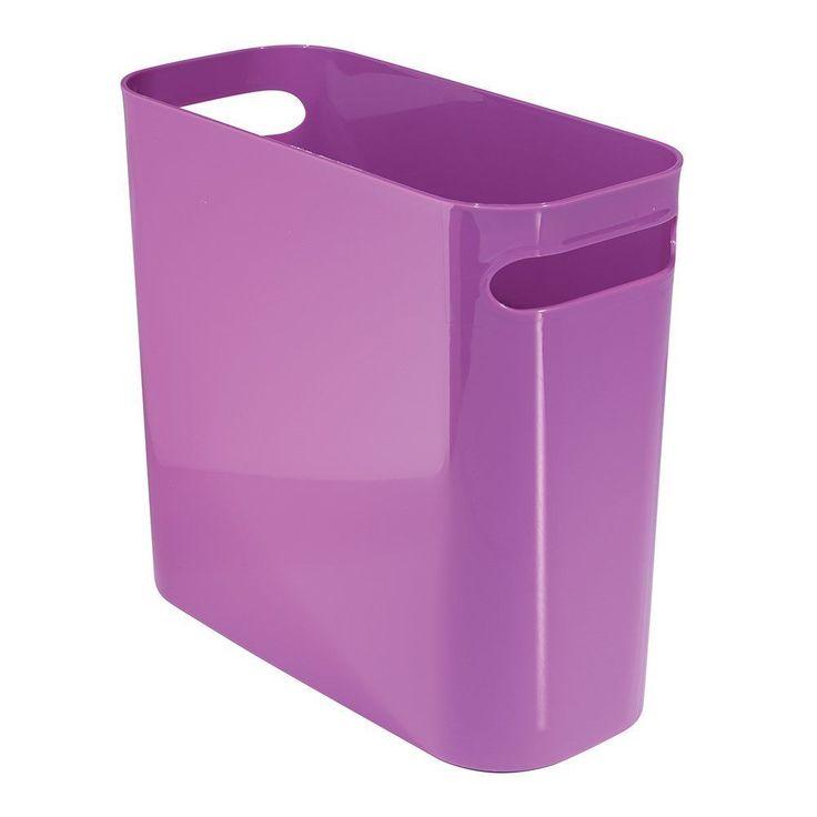 12 Inch PURPLE Bathroom Office Kitchen Wastebasket Trash Can