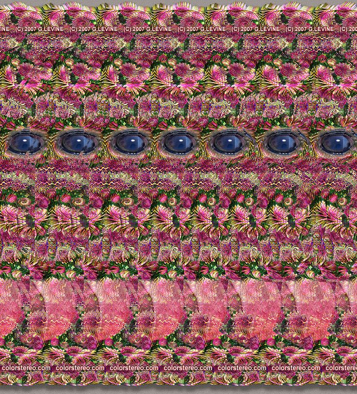 Stereogram. I focus about a foot past the picture...voila 3D!!