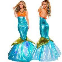Mujeres libres del envío Vestidos Vestidos de Sirena Sexy Traje de Adultos de Disfraces de Halloween de La Sirena Sirena de Mar Traje de Niña(China (Mainland))
