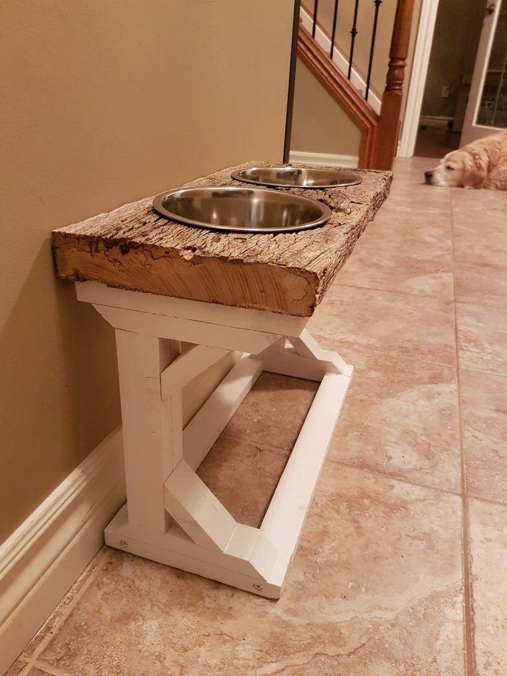 Hand crafted dog buffet