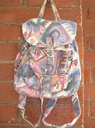 Grunge navajo style rucksack