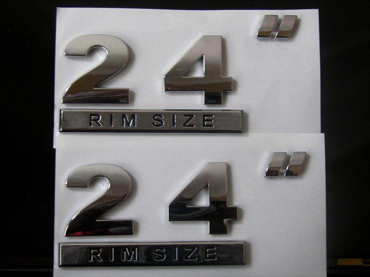 "24"" RIM SIZE BIG DUB Emblems Badges Wheel Rim 2 BADGES"