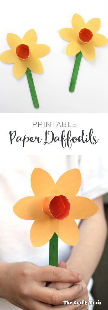 Paper Flower Crafts For Preschoolers
