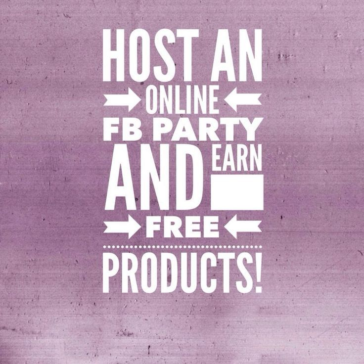 WANTED: Facebook Party Hosts! Want to earn FREE products? Throw a Facebook party…