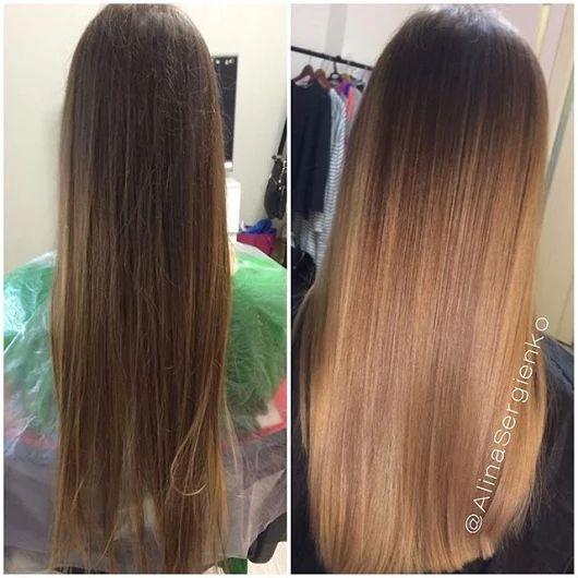 Если густые волосы покрасить одним тоном, то они будут выглядеть, как парик. С помощью колорирования🙆 волосы оживают.  🌹✂Ваш мастер Алина Сергиенко ==... - Елена Сергиенко - Google+