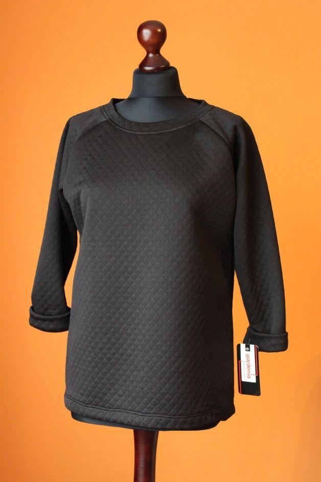RoomStyle Bluza Czarna Pikowana M - RoomStyle - Bluzy