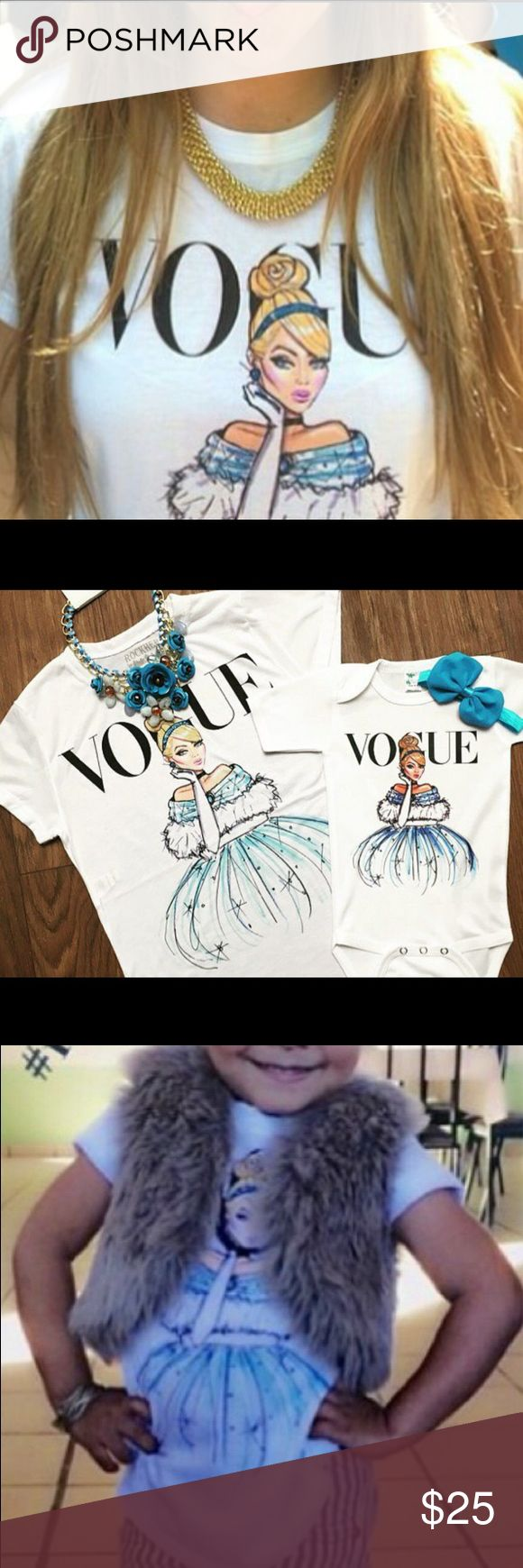 disney princess Cinderella t-shirt new, made of soft cotton blend. NO brand , these tees run fitted so i recommend going up a size or 2 depending on your liking(necklace NOT included)Listing is for only 1 tshirt. Tops Tees - Short Sleeve
