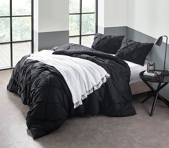 http://rubies.work/0231-ruby-rings/ Black Pin Tuck Twin XL Comforter Extra Long Twin Bedding Dorm Essentials