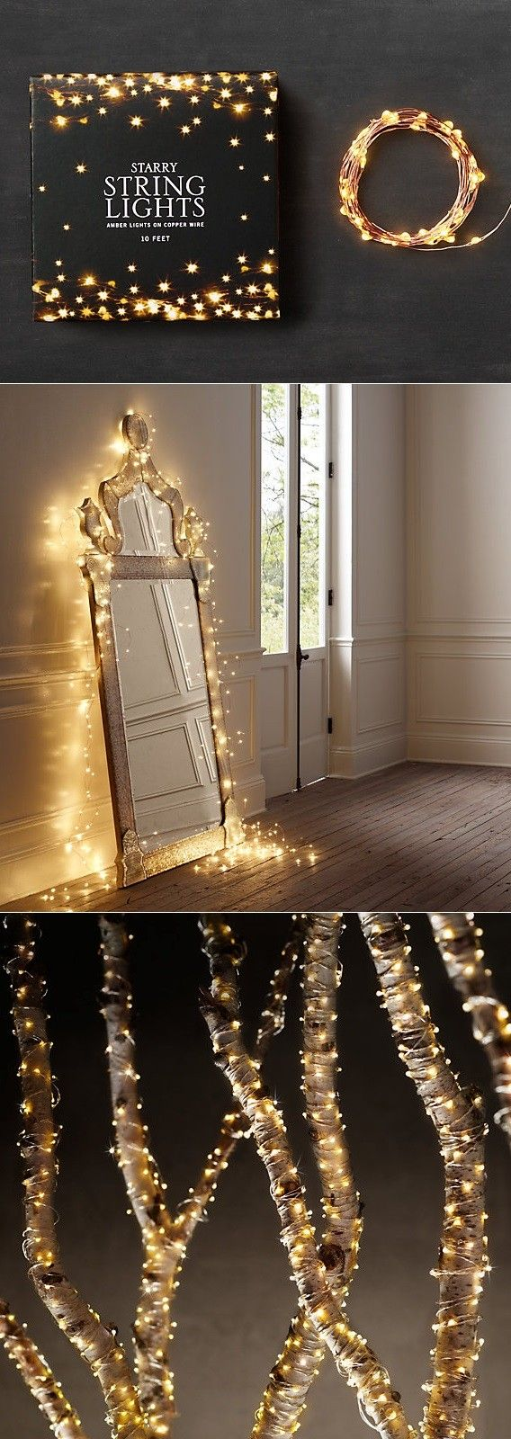 Bedroom decorating ideas for wedding night - Beautiful Starry String Lights