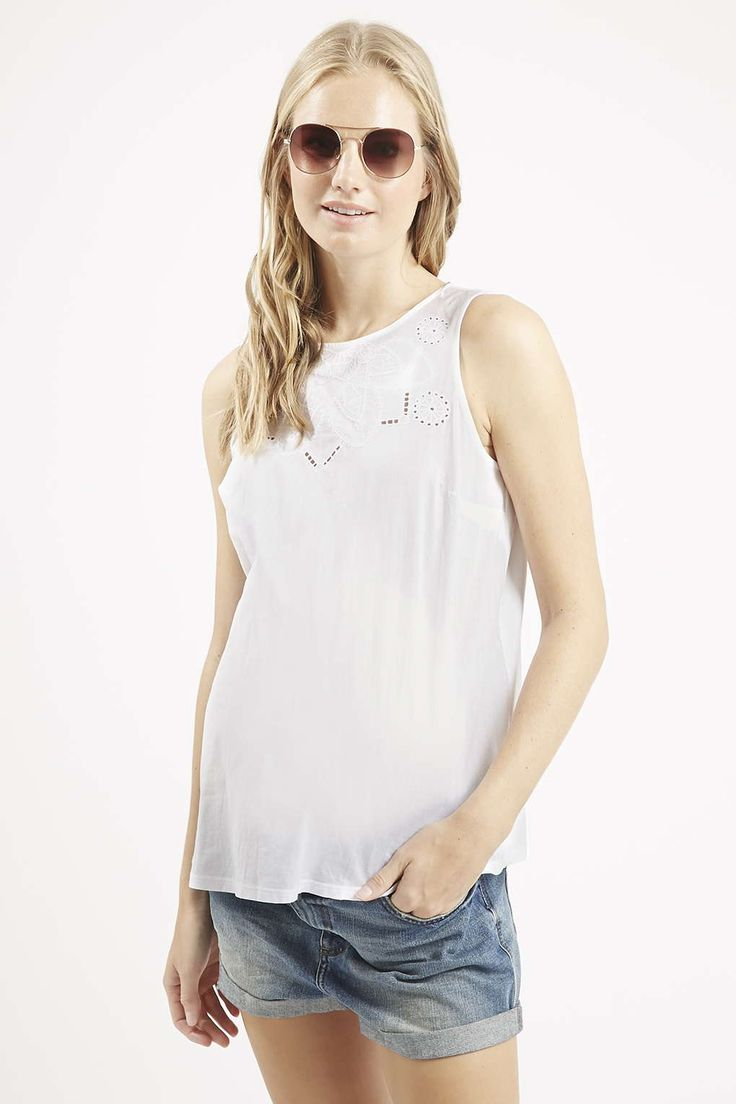 £22 Photo 3 of MATERNITY Definitives Embroidered Shell Top