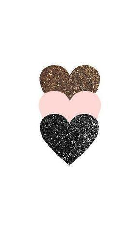 dreifach Glitter Herz Handy Wallpaper – #Glitter #Herz #Phone #Triple #wallpaper –