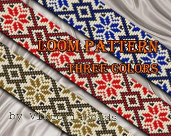 loom bracelet pattern,pdf-download,DIY,#056L,cuff bracelet pattern,loom beading pattern,beading tutorial,square stitch,loom