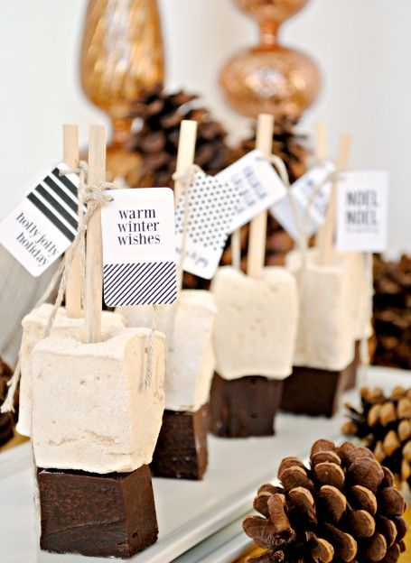 The Kitchen McCabe: Gingerbread Marshmallow Hot Chocolate Sticks with Printable Tags!