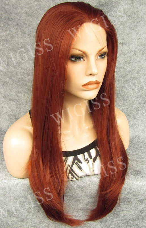 Synthetic fiber 100%Kanekalon Front Lace For Women Hair Wigs Long straight Hot #wigiss #FullWig
