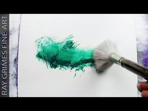 Easy Landscape / 169 / Relaxing / Simple / 4 minutes / Green / Abstract Painting / Demonstration – YouTube