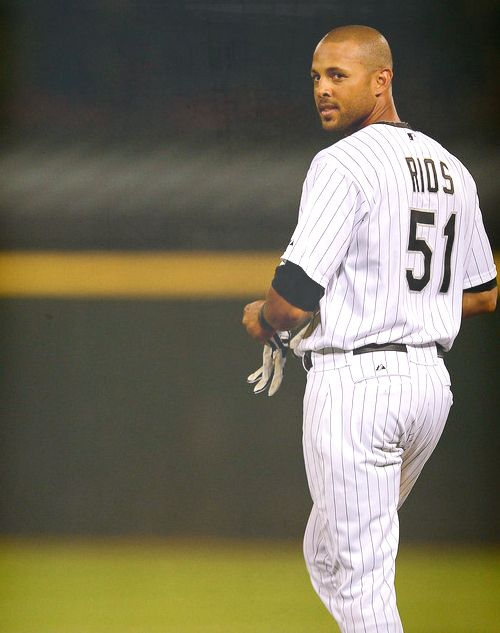 Alex Rios #WhiteSox one side of the Pitbul Kesha twin babies in 1