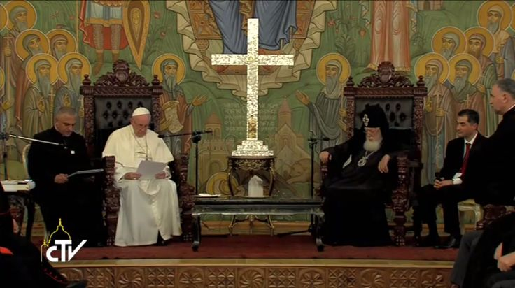 Francis has gone to the Patriarchate after meeting with